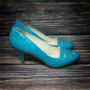 Modcloth But Another Innocent Tale Blue Blue Heels